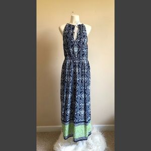 C. Wonder Small Beachy Maxi Dress w/ Nautical Tie